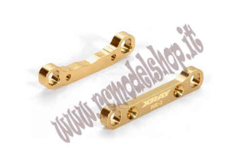 Xray XB4 Brass Rear Lower Suspension Holder +2 - RR+RF -
