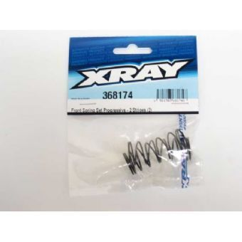 Xray Front Spring-set Progressive C=0.65-0.85 - 2 Stripes (2)
