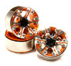 High Mass 1.9 Size Alloy 6 Spoke Beadlock Wheel (4) for Scale Off-Road Crawler C25091ORANGE